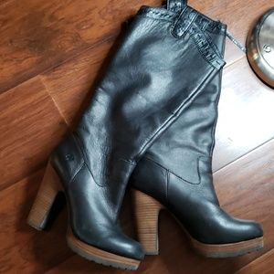 Lucky Boots with Heel Leather Size 7.5